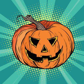 Evil pumpkin character Halloween