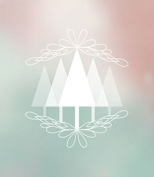 Vector Christmas background, Merry Christmas card with Christmas tree