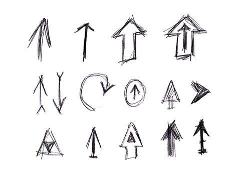 Handdrawn arrow set