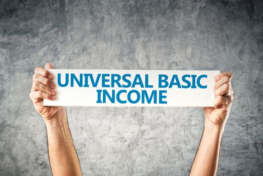 Universal basic income concept