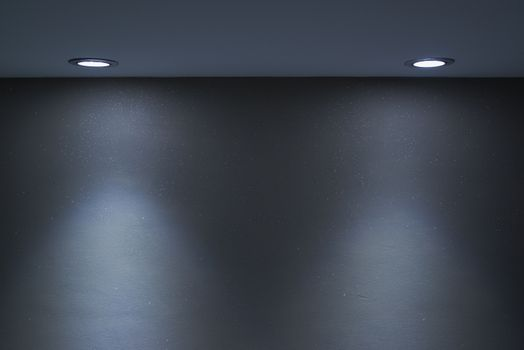 Interior wall and spotlight as background