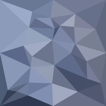 Low polygon style illustration of a black coral blue abstract geometric background.