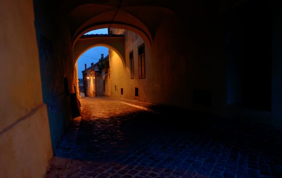 Medieval passage in Sibiu city