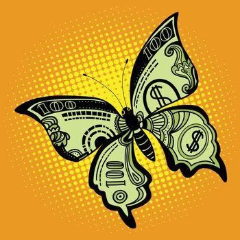 Butterfly dollar bill