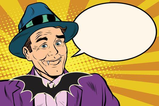 Dracula vampire said bubble comic