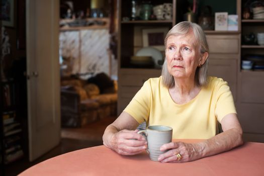 Senior woman with blank stare