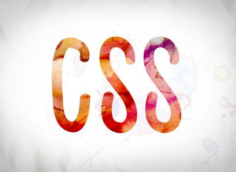 CSS Concept Watercolor Word Art