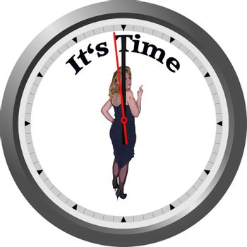 Watch with Pin Up Girl and caption It's Time.
