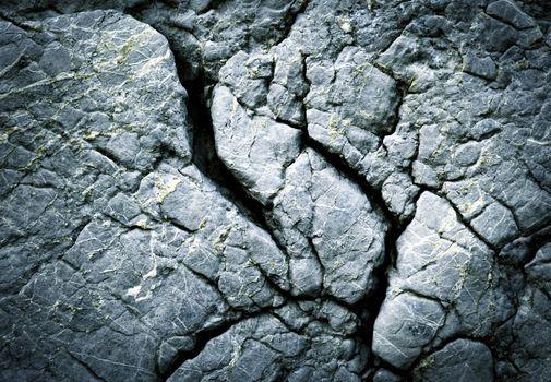dark fissured limestone rocks