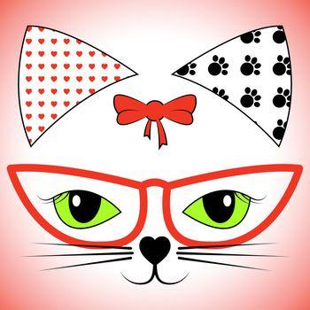 Cat Face Indicating Facial Pet And Felines