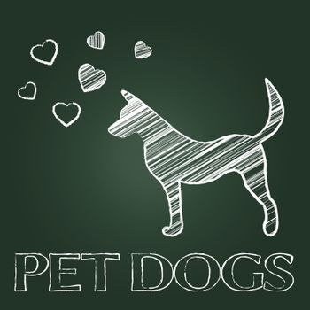 Pet Dogs Indicating Domestic Animal And Creature