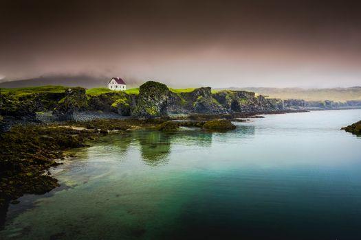 The beautiful view of Arnarstapi in Iceland
