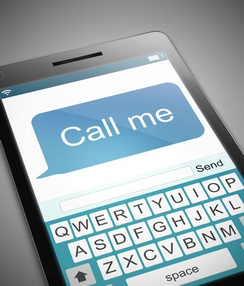 Illustration depicting a phone with a call me message concept.
