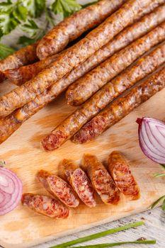 Sliced thin salami