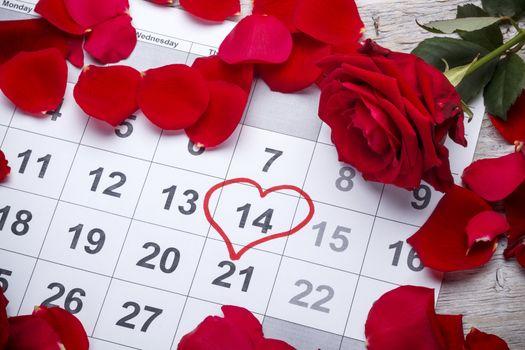 Heart shape in the calendar