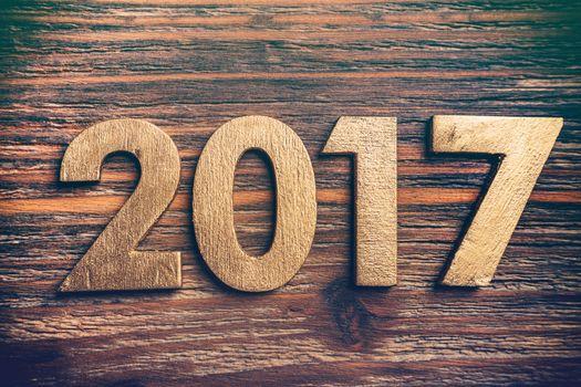 Wooden number 2017