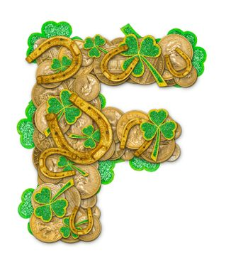 St. Patricks Day holiday letter F
