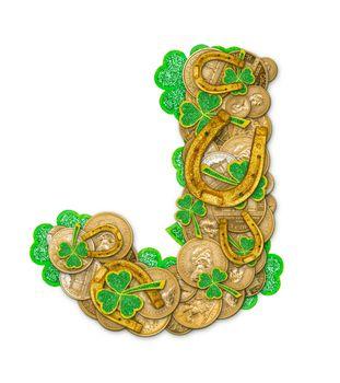 St. Patricks Day holiday letter J