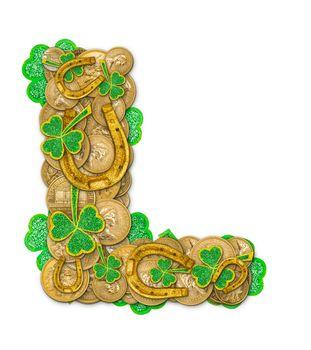 St. Patricks Day holiday letter L