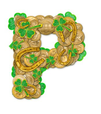 St. Patricks Day holiday letter P
