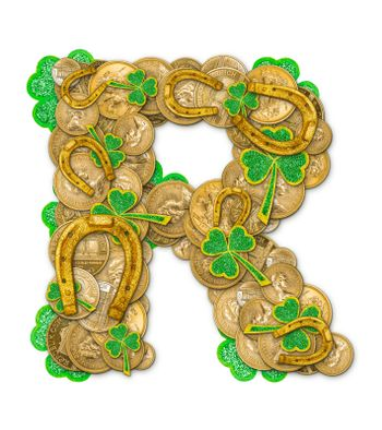 St. Patricks Day holiday letter R