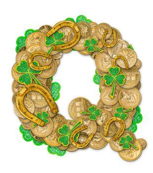 St. Patricks Day holiday letter Q