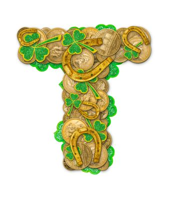 St. Patricks Day holiday letter T