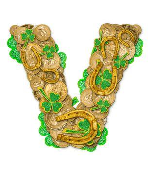St. Patricks Day holiday letter V