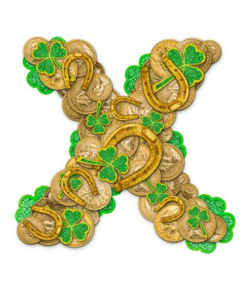 St. Patricks Day holiday letter X