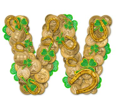 St. Patricks Day holiday letter W