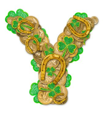 St. Patricks Day holiday letter Y