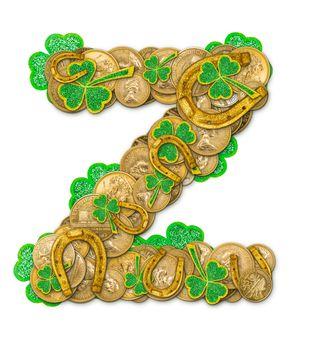 St. Patricks Day holiday letter Z