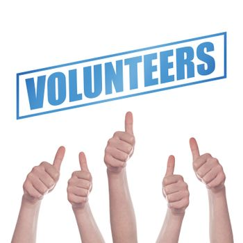 Thumbs up for volunteering concept