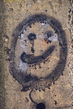Generic smiley face emoticon graffiti