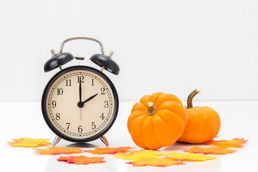 Clock in Autumn Theme