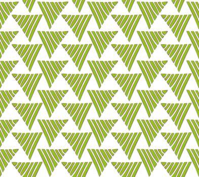 textile pattern from green triangular graduations