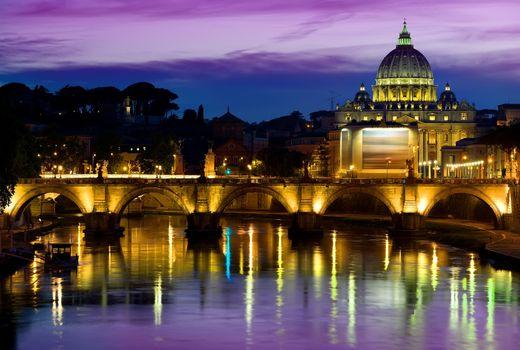 Purple sky and Vatican