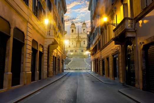 Road to Spanish Stairs