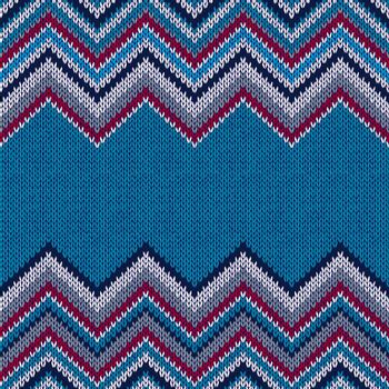 Fashion Fabric Color Swatch. Style Horizontally Seamless Textile Knitted Pattern