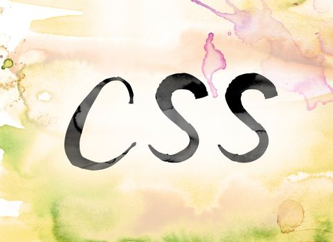 CSS Colorful Watercolor and Ink Word Art