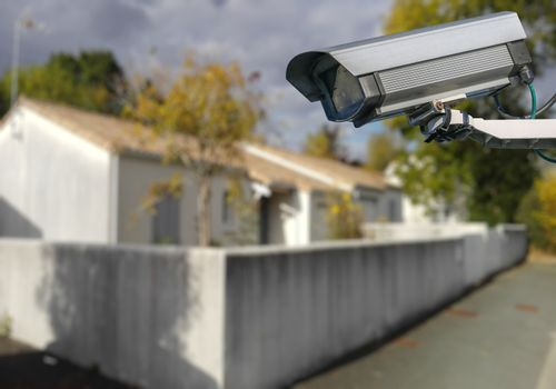 CCTV camera with individual house