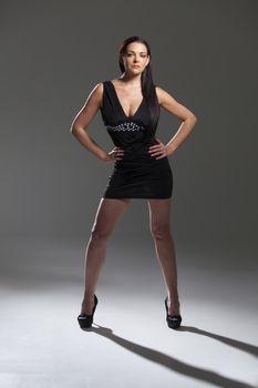 woman in a mini dress