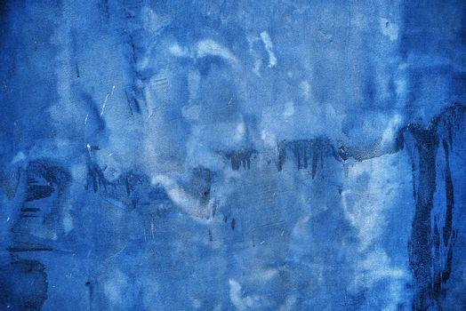 Rough blue grunge texture as background