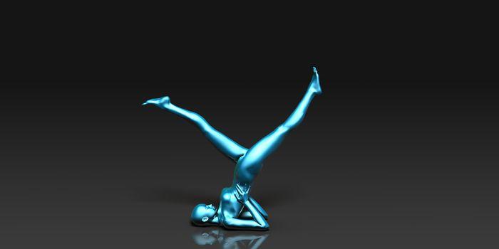 Yoga Class, the Leg Stretch Basic Pose Stance