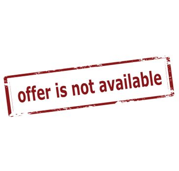 Offer is not available