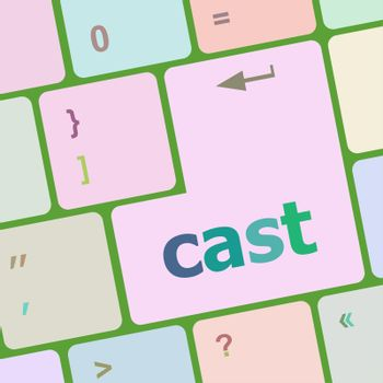 cast word on Modern Computer Keyboards key