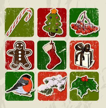 Christmas poster. Vector illustration EPS8