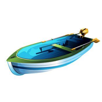 Rowing Boat Illustration