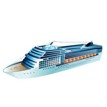 Cruise Liner Illustration