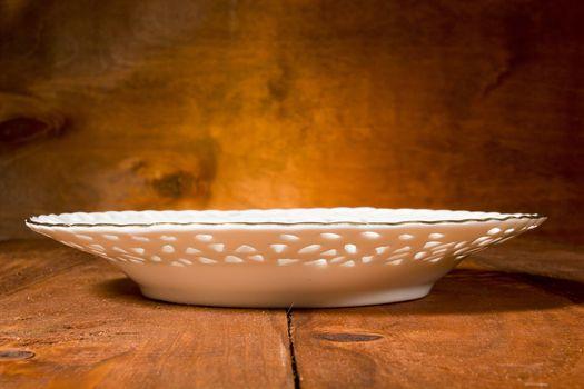 White openwork saucer